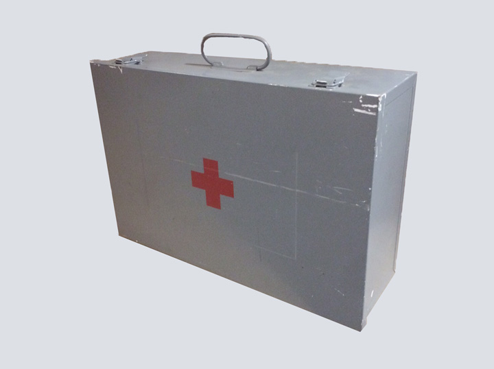 EMT Tackle Box (Metal w/ Red Cross)