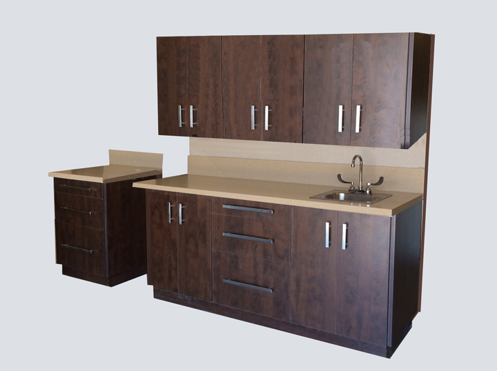 Cabinet - 6' Mobile All-in-One (Dark Brown)