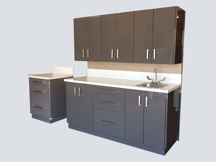 Cabinet - 6' Mobile All-in-One (Grey)