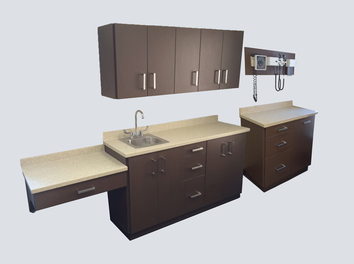 Cabinets - 5 Piece Set (Brown)