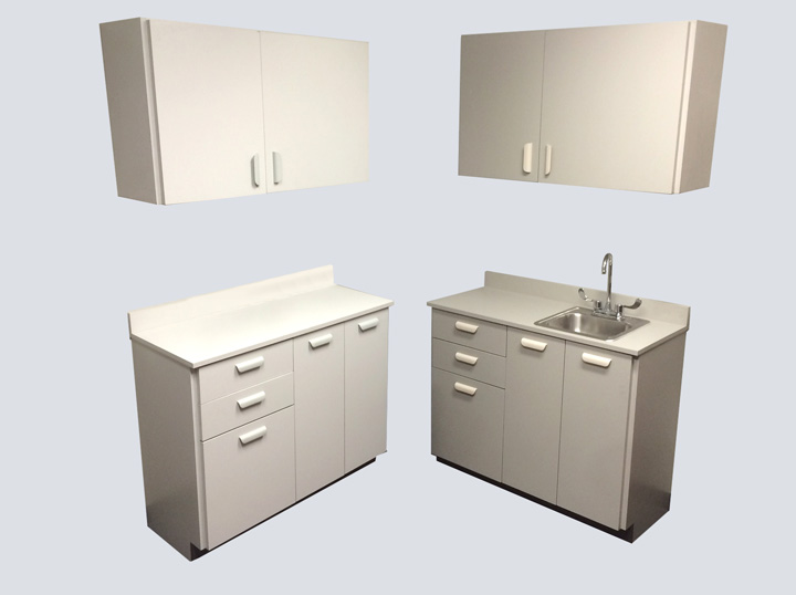 Cabinets – 3 1/2' (Grey)