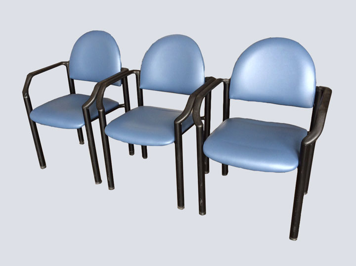 Chairs - Waiting Room (Blue)