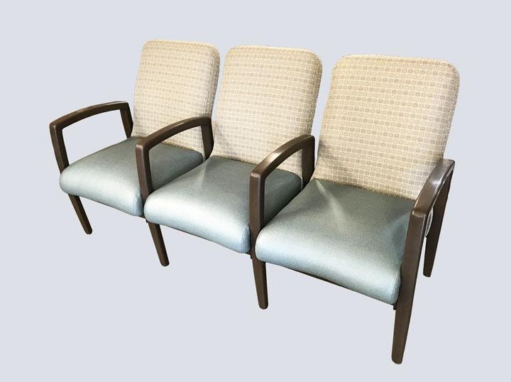 Chair - High End - Triple (Steel Blue)