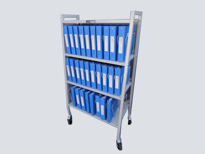 Chart Rack on Wheels - 30 Slot