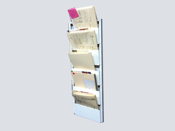 Chart Rack - 5 Slot Wall Mount
