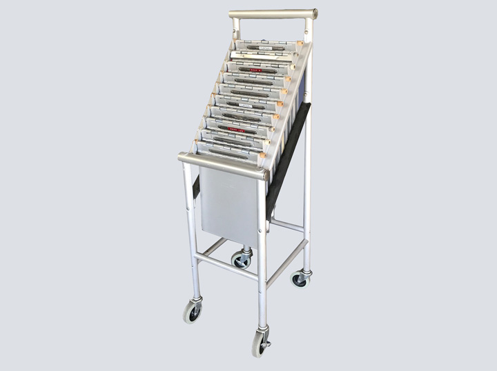 Chart Rack - Metal on Wheels - 10 Slot