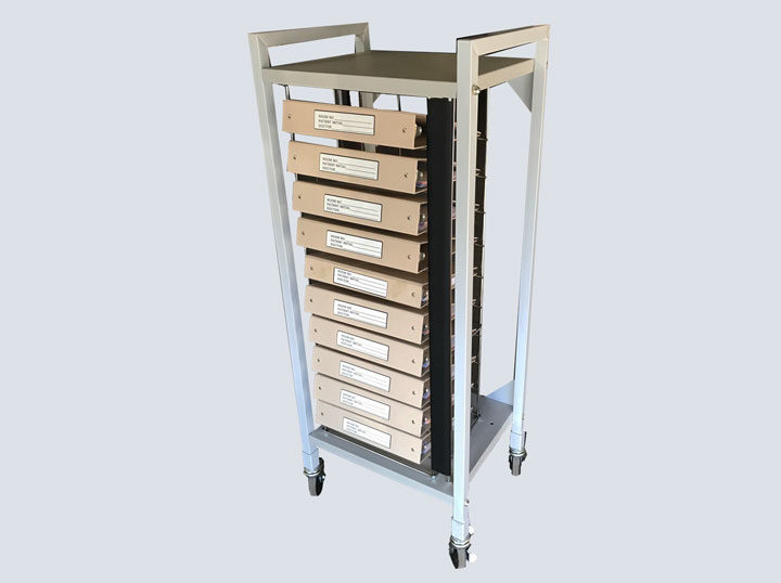 Chart Rack – Carstens – On Wheels – 10 Slot