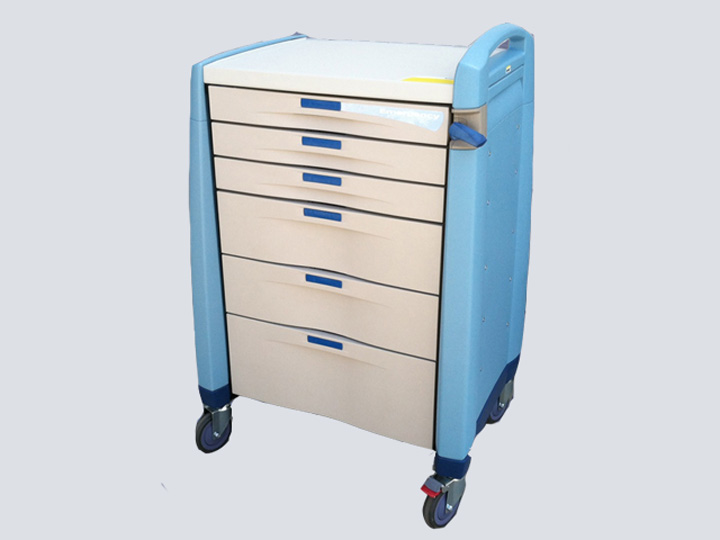Crash Cart - Artromick Emergency Cart - 6 Drawer (Blue)