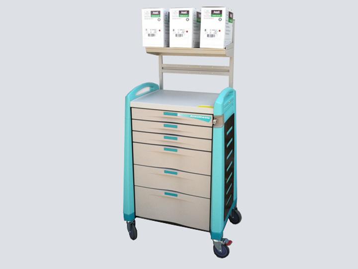 Crash Cart - Artromick Anesthesia Cart - 6 Drawer (Green)