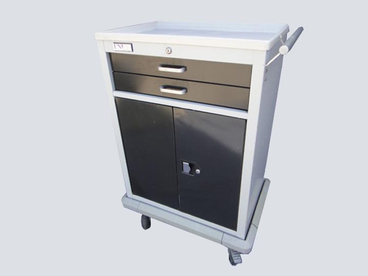 Crash Cart - Unicart - 2 Drawer w/Cabinet (Dark Grey)
