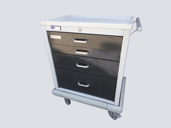 Crash Cart - Unicart - 4 Drawer (Dark Grey)