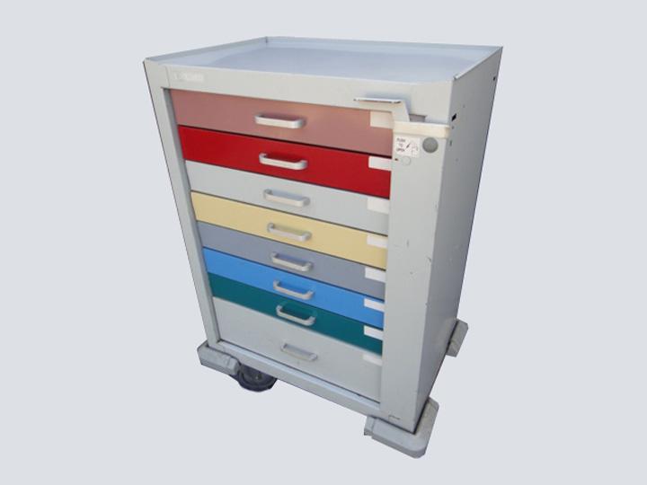 Crash Cart - Unicart - 8 Drawer (Multi-color)