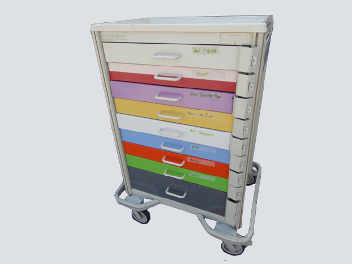 Crash Cart - Armstrong A-SMART - 9 Drawer (Multi-color)