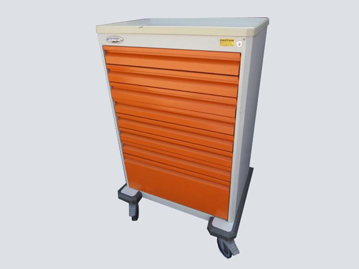 Crash Cart - Homed - 8 Drawer (Orange)