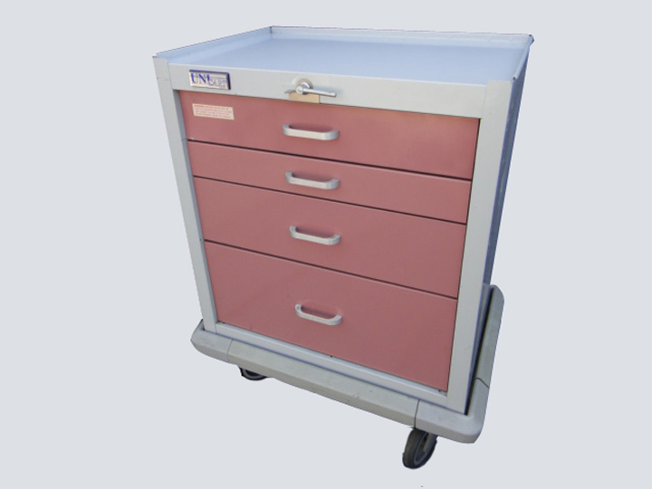 Crash Cart - Unicart - 4 Drawer (Pink/Mauve)