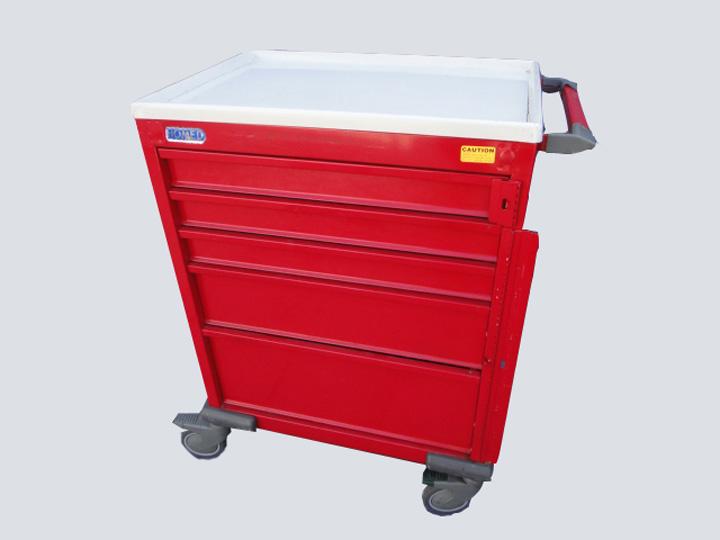 Crash Cart - Unicart - 5 Drawer (Red)