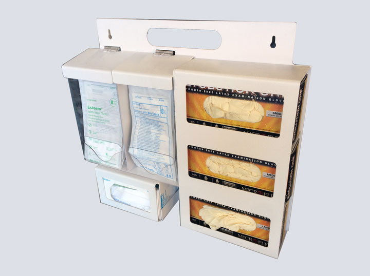 Glove Rack - 6 Slot Dispenser - Bowman