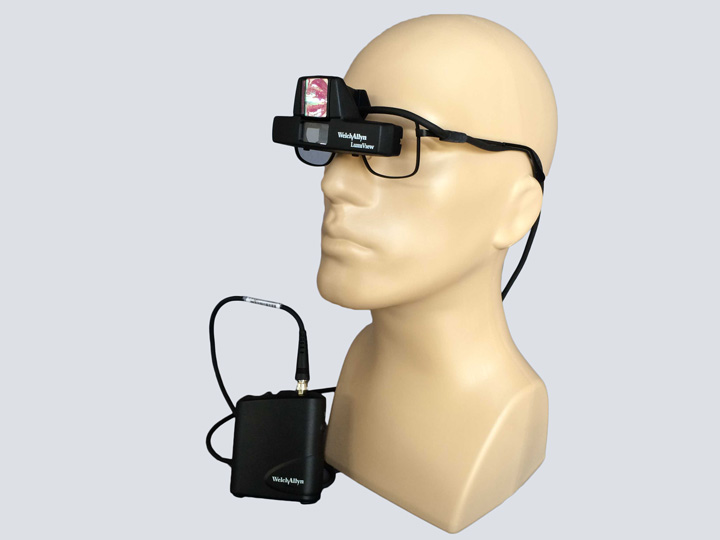 Head Lamp - Welch Allyn LumiView on Glasses