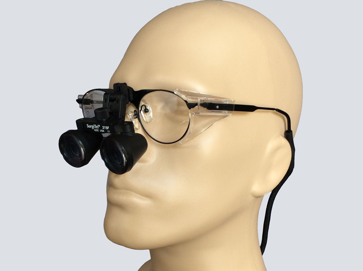 Loupes - Surgitel 215F On Glasses