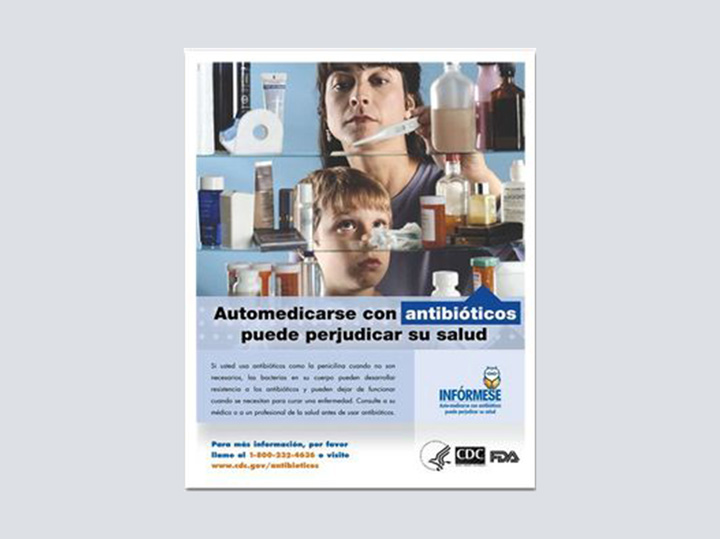 Poster - Antibiotics (Spanish) - 16 x 20