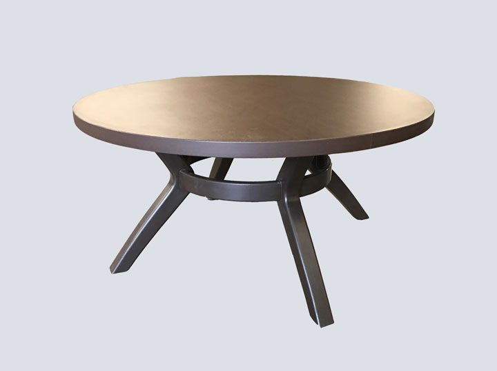 Coffee Table - Round (Dark Wood)