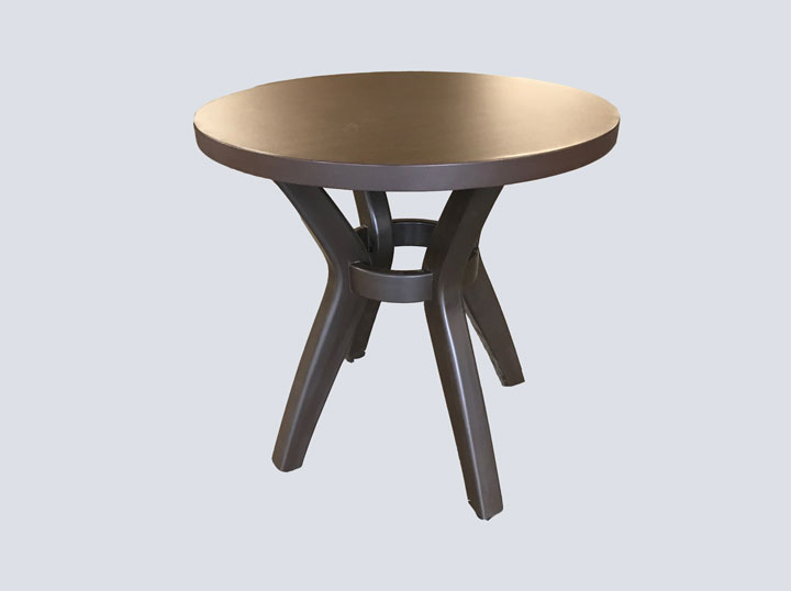 Side Table - Round (Dark Wood)