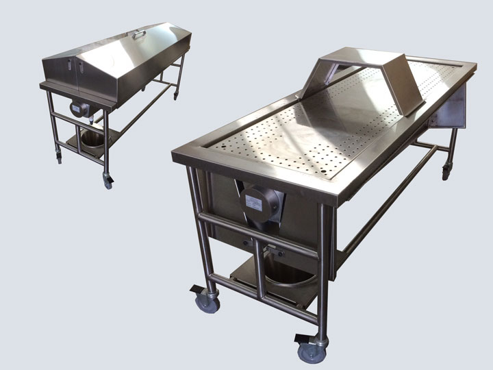 Morgue/Autopsy Dissection Table