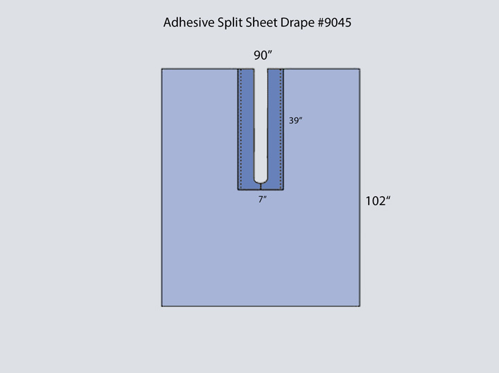 Drape - Adhesive Split Sheet 9045