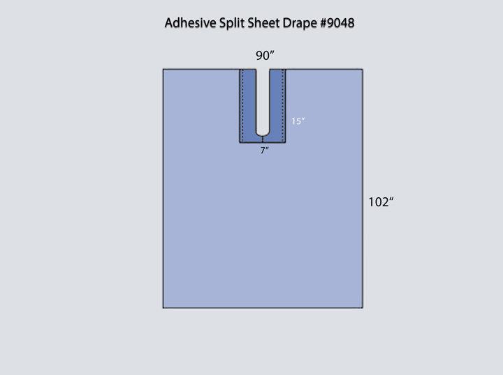 Drape - Adhesive Split Sheet 9048
