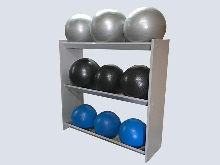 Exercise Balls - Grey Rack