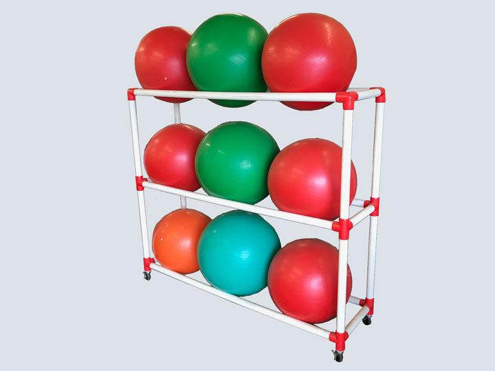 Exercise Balls - White Rack