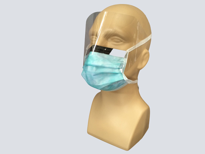 Mask - Blue Surgical Mask - w/Shield