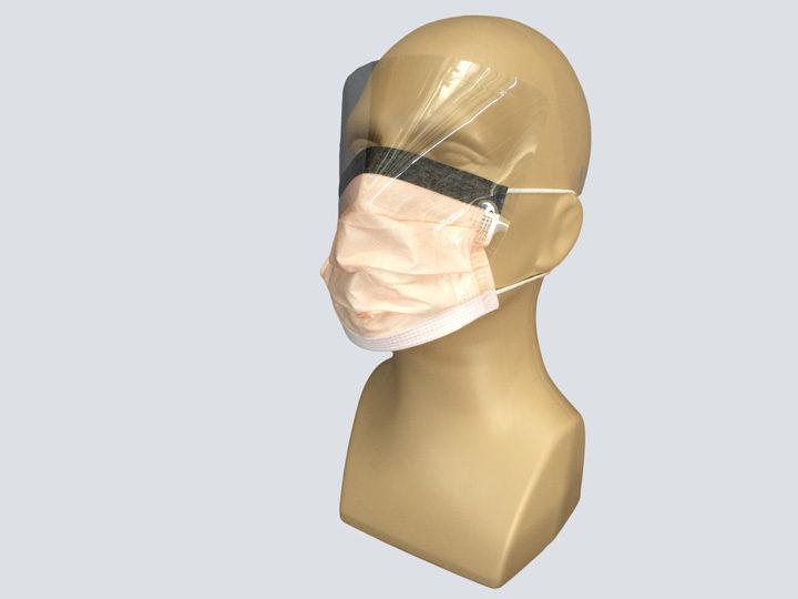 Mask - Orange Procedure Mask - w/Shield