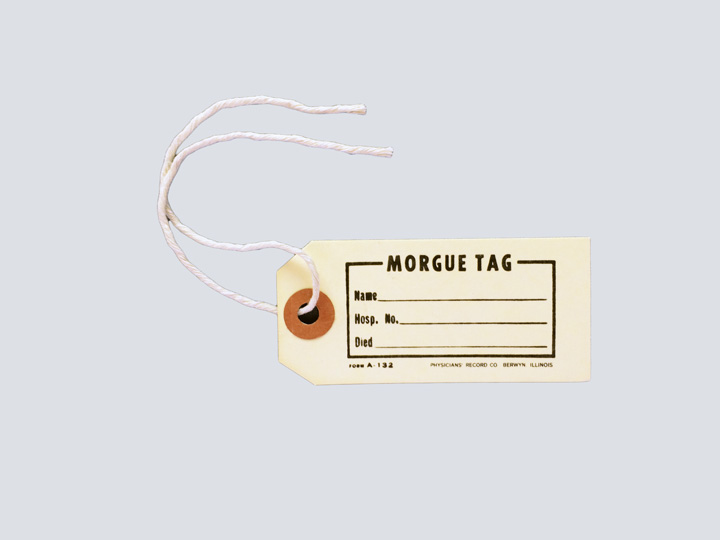Morgue Toe Tag