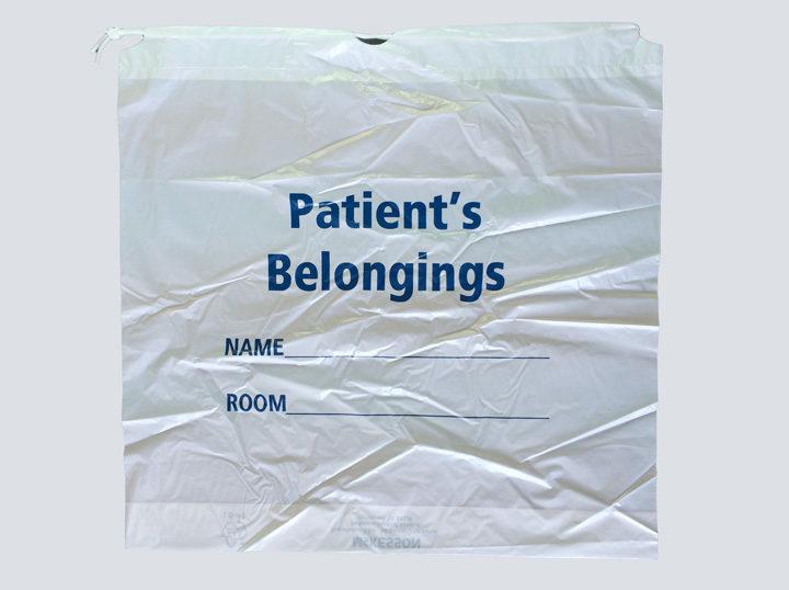 Patient Belongings Bag - White