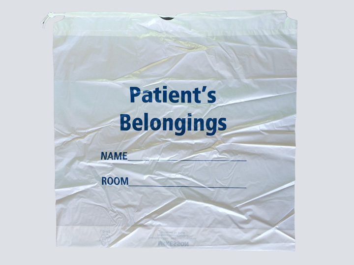 Patient Belongings Bag - White