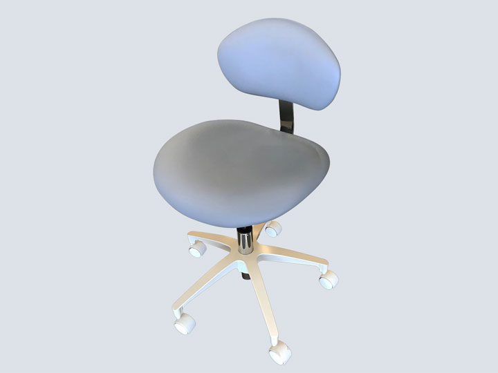 Dental Stool with Back - Blue Fog