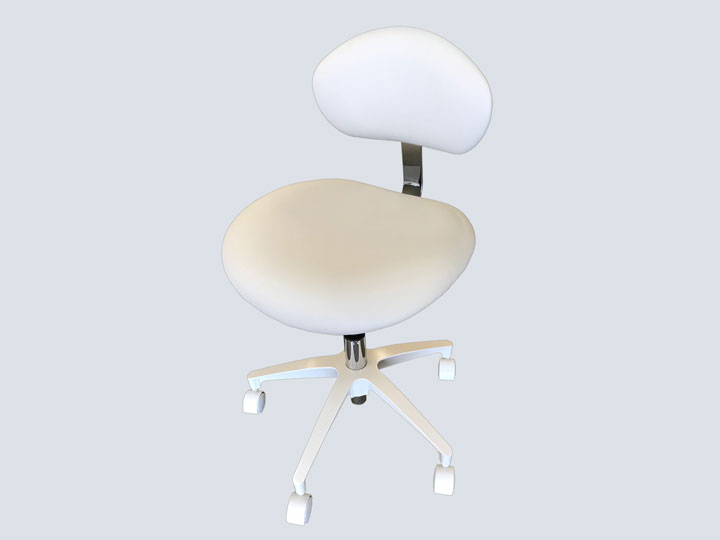 Dental Stool with Back - Feather Grey