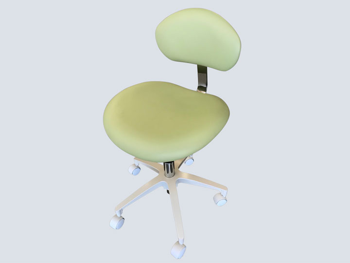 Dental Stool with Back - Sage Green