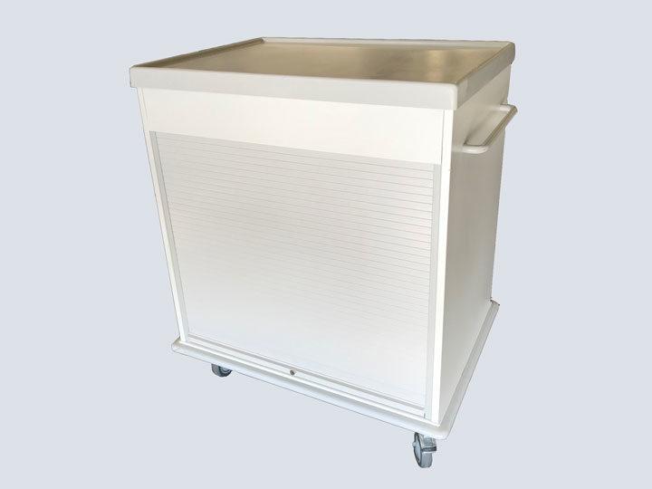 Roll Top Storage Supply Cart (Short Version)