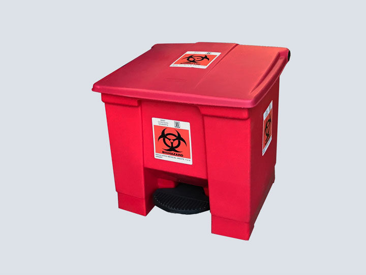 Trash-Can---Rubbermaid---Red-(Short)-w-Bio-Label